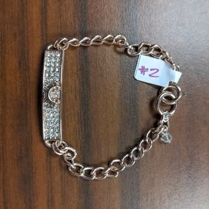 Rose gold Juicy Couture tennis bracelet